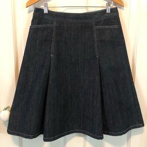 Ann Taylor Denim A-line Skirt